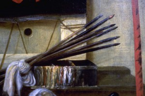 Vanity: Attributes of a Painter. Detail.