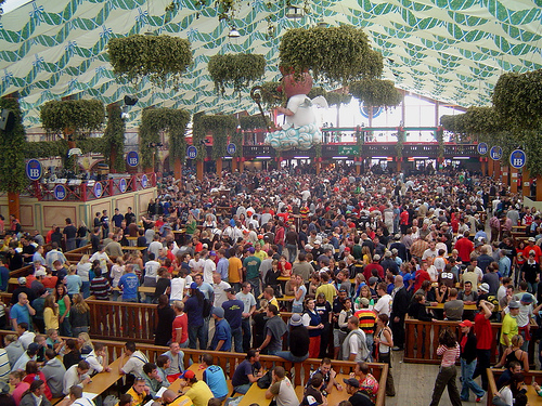 The Hofbrau t · Haufbrau tent at Oktoberfest & Oktoberfest 2011 was everything I thought it would be and more ...