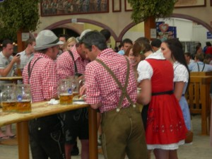 Dirndl and Lederhosen at Oktoberfest