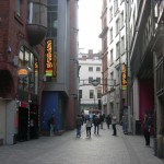 Mathew Street in Liverpool